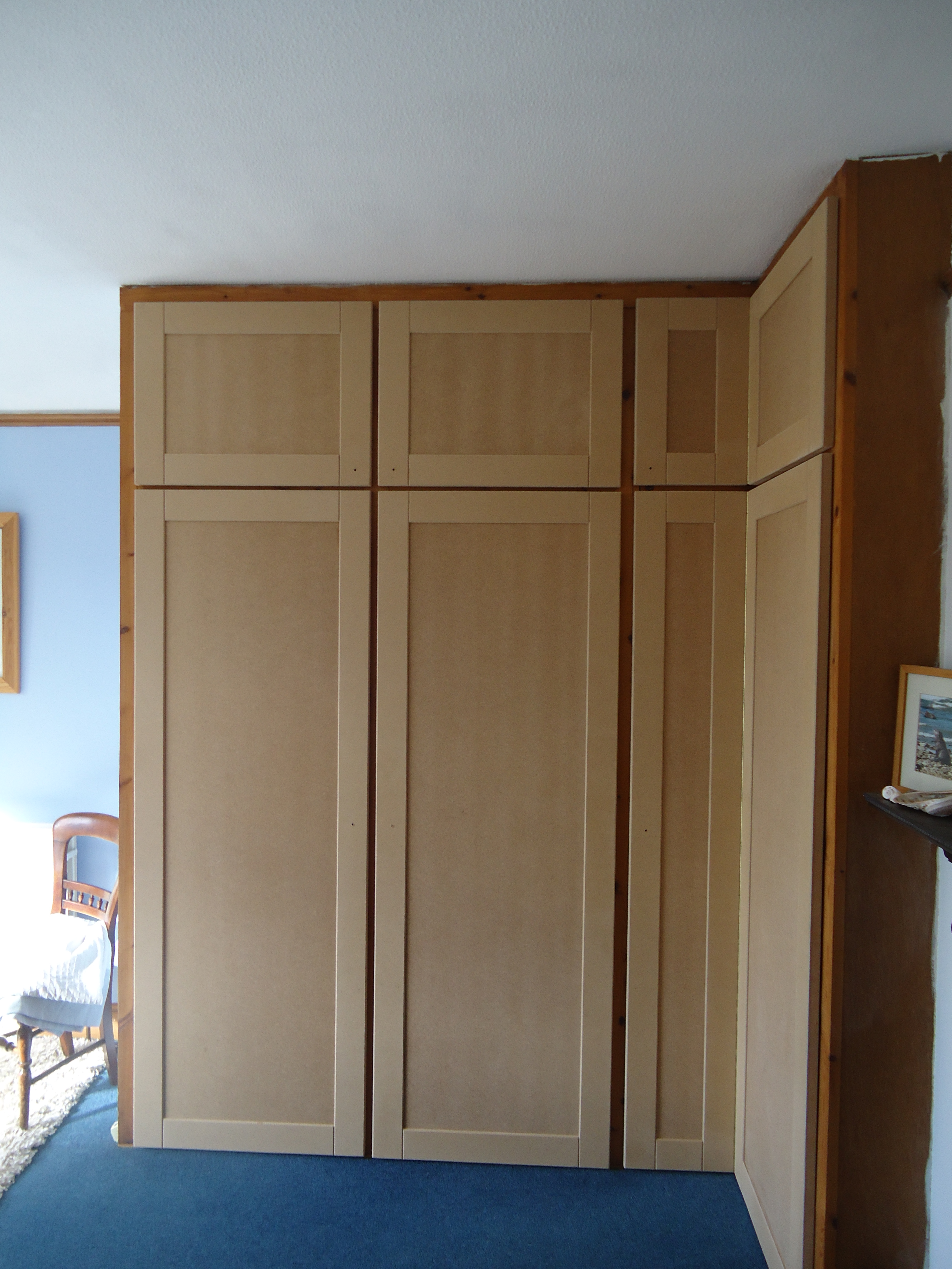Mdf style shaker doors made for built in wardrobe