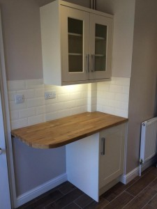 Cream Kitchen Wood Overhang